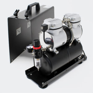 Airbrush kompresor AS 196A dvojitý cylindr vzduchového zásobníku dvoustupňový spínač