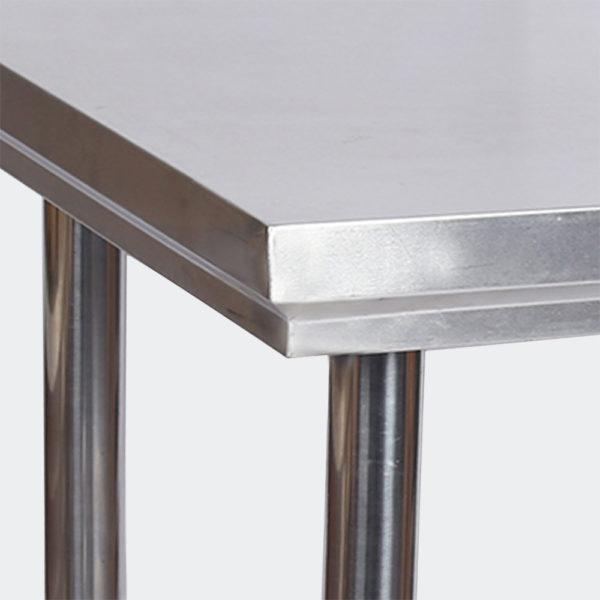 Stůl z nerezové oceli 120x60x85 s bezpečnostní lištou
