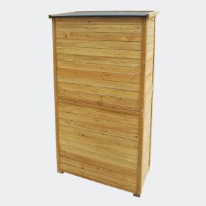 Zahradní skříň s roštovými dveřmi a bitumenovou střechou 870x465x1600 mm