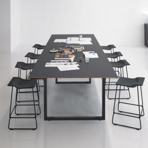 Čtvercové stolové nohy 100x72cm černý