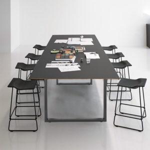 Stolové nohy průmyslový design 60x72cm šedý práškový lak na stoly a lavice