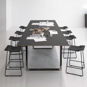 Čtvercové stolové nohy 60x72cm čirý
