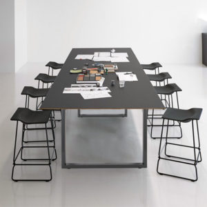 Čtvercové stolové nohy 64x40cm šedý
