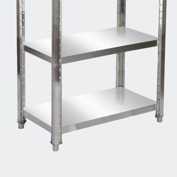 Regál z nerezové oceli 80x50x155 cm se 4 policemi pro gastronomii