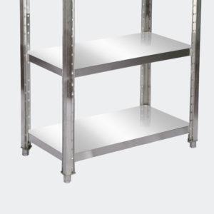 Regál z nerezové oceli 180x50x155 cm se 4 policemi pro gastronomii