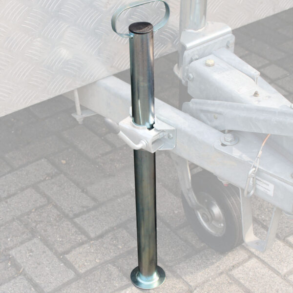 Podpěry přívěsu 48 mm z pozinkované oceli s robustní rukojetí
